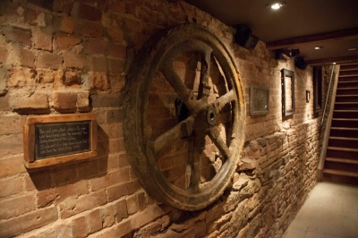 Carroll Place Building History Wooden wheel
